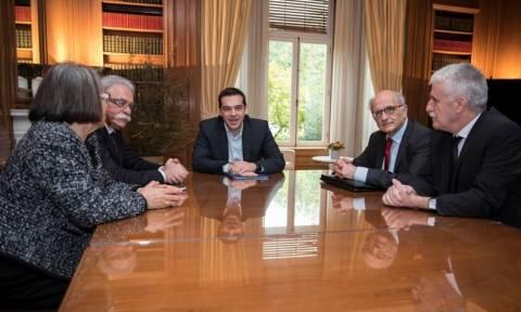 Ολοκληρώθηκε η συνάντηση του Αλ. Τσίπρα με προέδρους Ανώτατων Δικαστηρίων (photos)