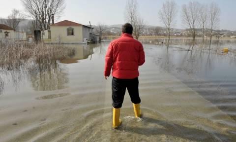 Ιωάννινα: Κακοκαιρία με ασταμάτητη βροχή, χαλάζι και χιόνια