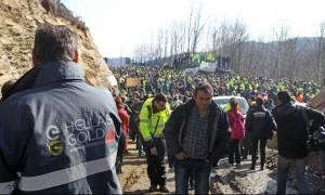 Χαλκιδική: Αποχώρησαν από τα μπλόκα οι μεταλλωρύχοι