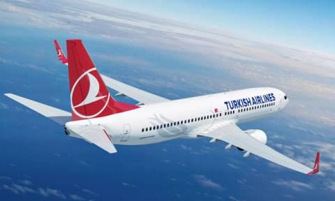 Αναγκαστική προσγείωση αεροπλάνου της Turkish Airlines - Ρωγμή σε τζάμι