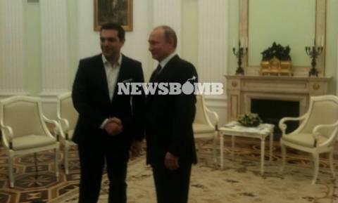 Όλος ο διάλογος Τσίπρα - Πούτιν μπροστά στις κάμερες