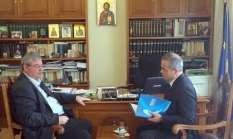Συνάντηση νέου Έλληνα Προξένου στο Αργυρόκαστρο με Περιφερειάρχη Ηπείρου