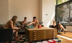 Καμπάνια εταιρείας: Ελάτε... γυμνοί στο γραφείο (photos)