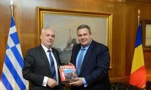 Συνάντηση ΥΕΘΑ Πάνου Καμμένου με τον Πρέσβη της Ρουμανίας