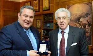 Καμμένος με πρέσβη Ιταλίας: Eνίσχυση συνεργασίας στον αμυντικό τομέα