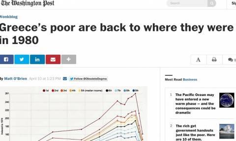 Washington Post: Οι φτωχοί στην Ελλάδα επέστρεψαν στο 1980