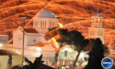 Χίος: Η νύχτα... μέρα στο Βροντάδο (Video)