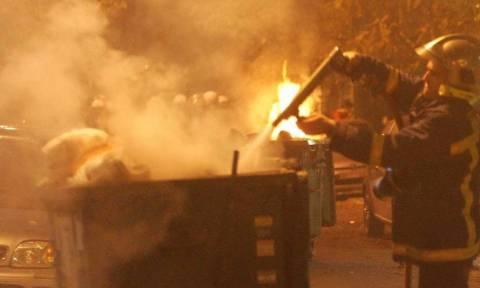 Κρήτη: Μετά τον «Ιούδα» έκαψαν και τους κάδους