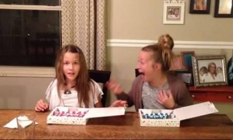 Τους πήρε διαφορετικά γλυκά - Δείτε την αντίδραση της μικρής όταν μαθαίνει το γιατί!