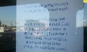 Συγκινητικό: Δείτε τι έγραψε ο ιδιοκτήτης ενός εστιατορίου για έναν άστεγο
