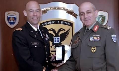 Ο επικεφαλής του Γραφείου Αμυντικής Συνεργασίας (U.S.ODC) στον Α/ΓΕΣ