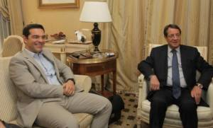 Συνάντηση Τσίπρα - Αναστασιάδη για Κυπριακό, οικονομία, θέματα της ΕΕ