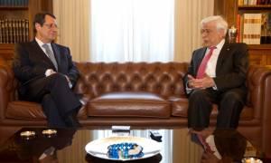 Τι είπε ο Αναστασιάδης με Παυλόπουλο και πολιτικούς αρχηγούς