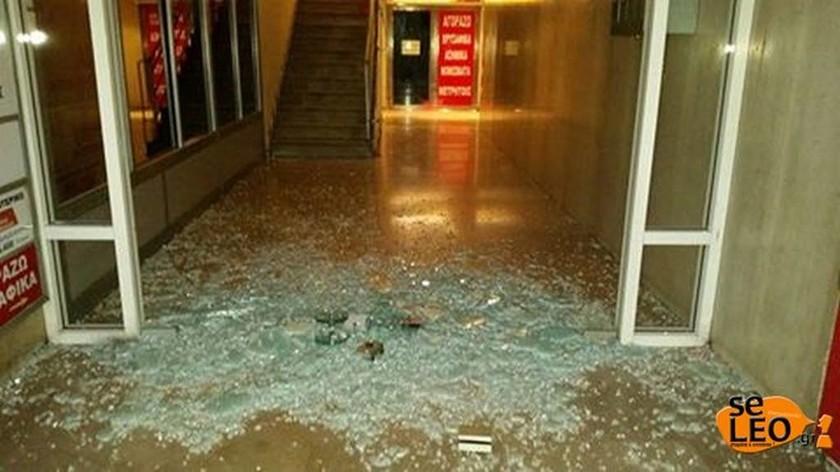 Επίθεση στα κεντρικά γραφεία του ΣΥΡΙΖΑ στη Θεσσαλονίκη