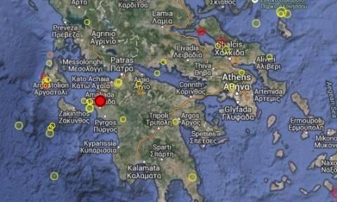Ισχυρός σεισμός στην Ηλεία
