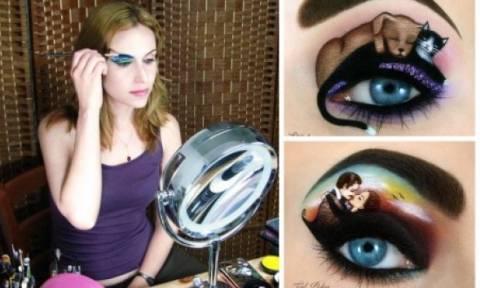 Όταν υπάρχει beauty φαντασία, το eye look μετατρέπεται σε έργο τέχνης