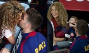 Σακίρα: Με τα παιδιά της στο γήπεδο και το τρυφερό φιλί στον Πικέ