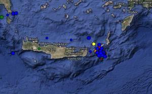 Πέντε δυνατοί μετασεισμοί τα ξημερώματα στην περιοχή μεταξύ Κρήτης και Κάσου (pics)
