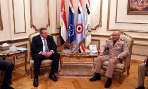 Καμμένος - Al Sisi: Συστήνουν Επιτροπή Συνεργασίας στην Αμυνα