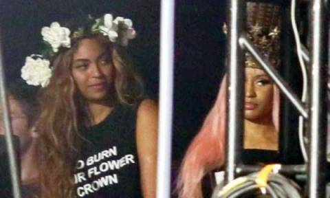 Η πιο αμήχανη στιγμή της showbiz! Beyonce & Nicki Minaj δεν αντάλλαξαν ούτε βλέμμα