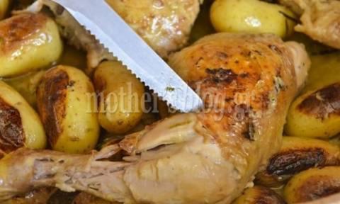 Λαχταριστό κοτόπουλο με μυρωδικά στο φούρνο, από το Γιώργο Γεράρδο!