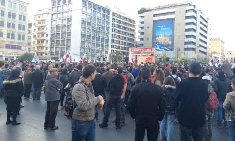 Συλλαλητήριο του ΠΑΜΕ για τα ταμειακά διαθέσιμα (photos)