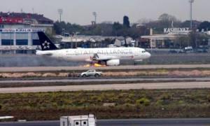 Θρίλερ με αεροπλάνο που τυλίχτηκε στις φλόγες λίγο μετά την απογείωση (Video-Photos)