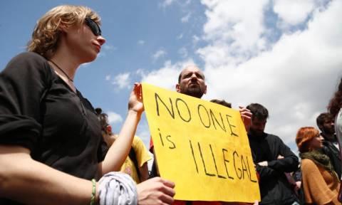 Συγκέντρωση διαμαρτυρίας κατά των κέντρων κράτησης μεταναστών