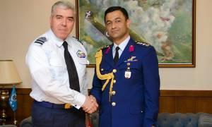 Συνάντηση Αρχηγού ΓΕΑ με τον Αεροπορικό Ακόλουθο της Τουρκίας