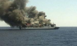 Ισπανία: Πυρκαγιά σε φέρι, σώοι επιβάτες και πλήρωμα