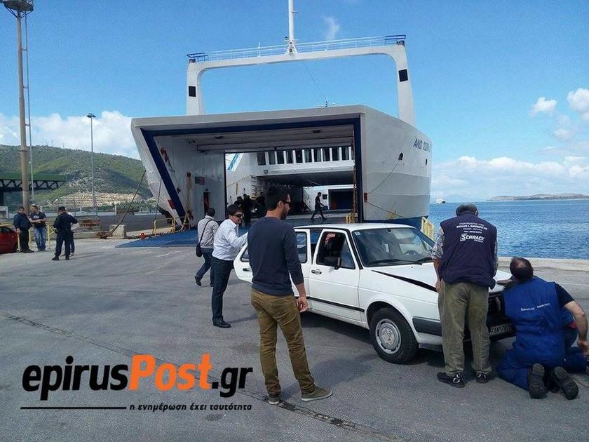 Πρόσκρουση πλοίου στο λιμάνι της Ηγουμενίτσας - 11 τραυματίες (pics)