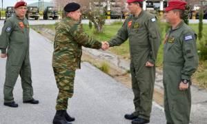 Στην 1η Ταξιαρχία Αεροπορίας Στρατού ο γεν. επιθεωρητής (pics)