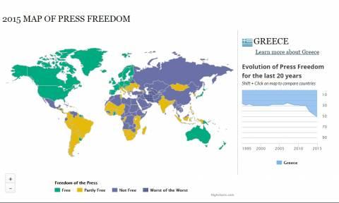 Freedom House: H Eλλάδα χάνει πόντους στην ελευθερία του Τύπου