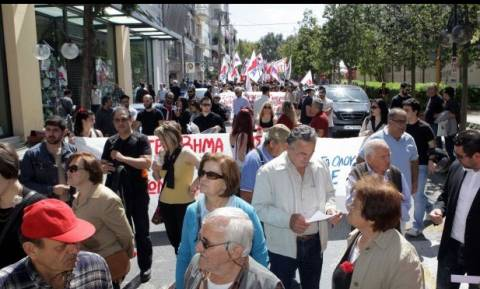 Εργατική Πρωτομαγιά: Με δύο συγκεντρώσεις τιμήθηκε στο Ηράκλειο