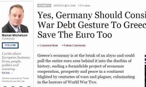 Forbes: Η Γερμανία πρέπει να σώσει την Ελλάδα με τις πολεμικές επανορθώσεις