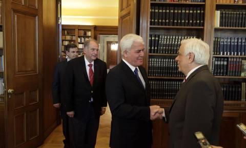 Στον Παυλόπουλο ο πρόεδρος, ο αντιπρόεδρος και ο γενικός διευθυντής του ΙΟΒΕ