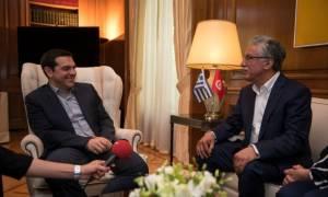 Συνάντηση Τσίπρα με τον ηγέτη της Τυνησιακής Αριστεράς, Hamma Hammami (pics)