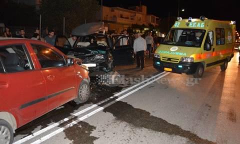 Χανιά: Μετωπική σύγκρουση οχημάτων με τραυματίες (photos)