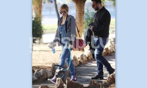 Κωνσταντίνα Σπυροπούλου: Χαλαρές στιγμές παρέα με το σκύλο της