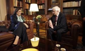 Δεκτή από τον Παυλόπουλο έγινε η Μπακογιάννη - Τι συζήτησαν