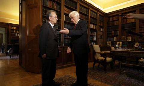 Συνάντηση Παυλόπουλου με τον πρώην πρόεδρο της Βουλής, Δ. Σιούφα
