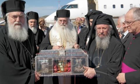 Στην Αθήνα τα λείψανα της Αγίας Βαρβάρας (Photos)