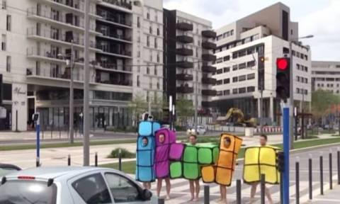 Το απίστευτο Tetris του Rémi Gaillard (video)