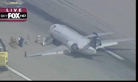 ΗΠΑ: Αναγκαστική προσγείωση λόγω μηχανικής βλάβης (video)