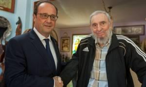 Κούβα: Ο Φ. Ολάντ συνάντησε τους αδελφούς Κάστρο