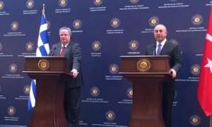 Κοτζιάς – Τσαβούσογλου: Βούληση για ειρηνικό Αιγαίο και επίλυση του Κυπριακού
