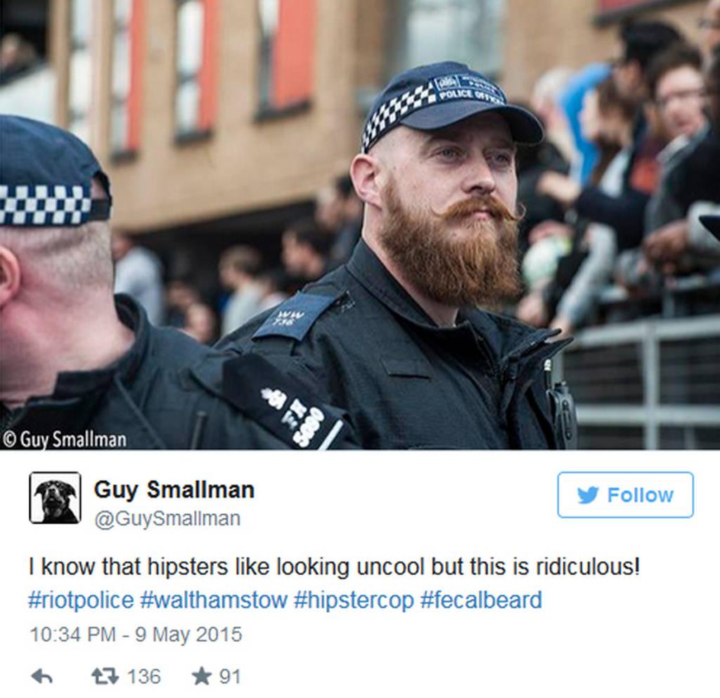 Χαμός στα social media με τον... χίπστερ αστυνομικό! (photo)