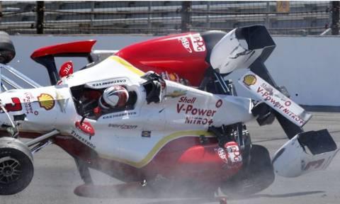IndyCars: Τρομακτικό ατύχημα του Helio Castroneves