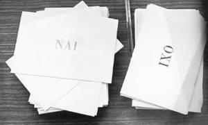 Το «ναι» ή το «όχι» από το λαό σε δημοψήφισμα