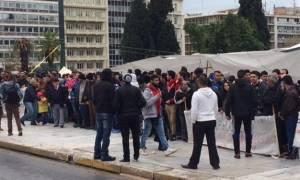Διαμαρτυρία Σύρων προσφύγων στην Κατεχάκη